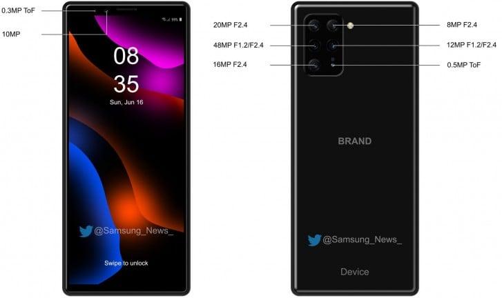 Sony Xperia 3'ün görselleri ise bu şekilde