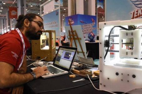 Kayseri'de 3D yazıcı mantığıyla çalışan baskı makinesi geliştirildi