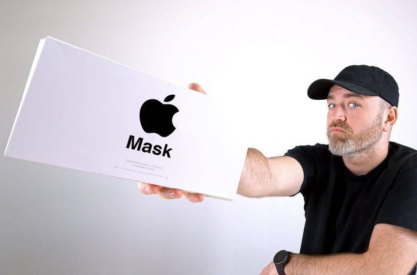 Apple yüz maskesi ortaya çıktı