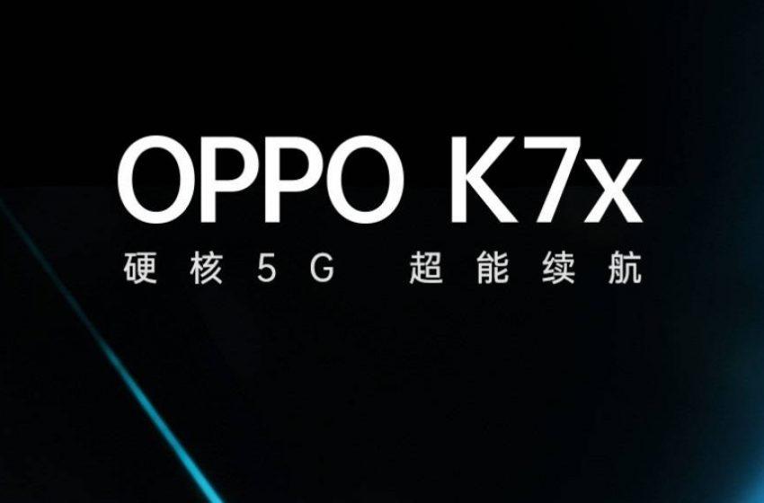 5G destekli Oppo K7x tanıtım tarihi ortaya çıktı
