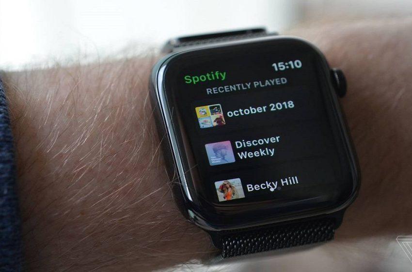 Apple Watch Spotify desteği yayınlandı