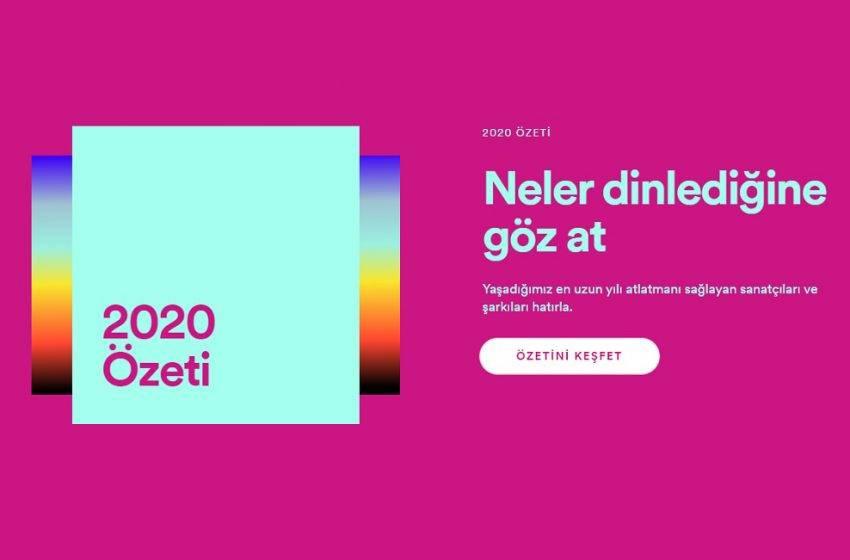 Spotify 2020 özetini yayınladı