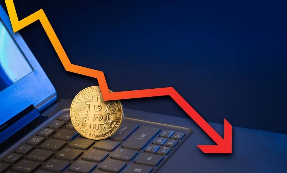 Bitcoin sert düşüş