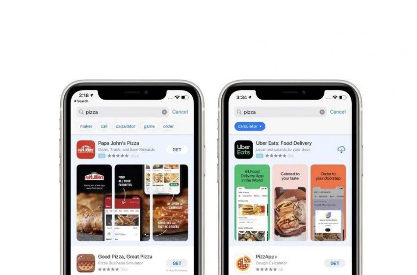App Store arama ekranında kelime önerecek