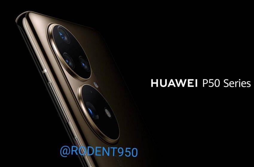 Huawei P50 serisinin tasarımı sızdırıldı